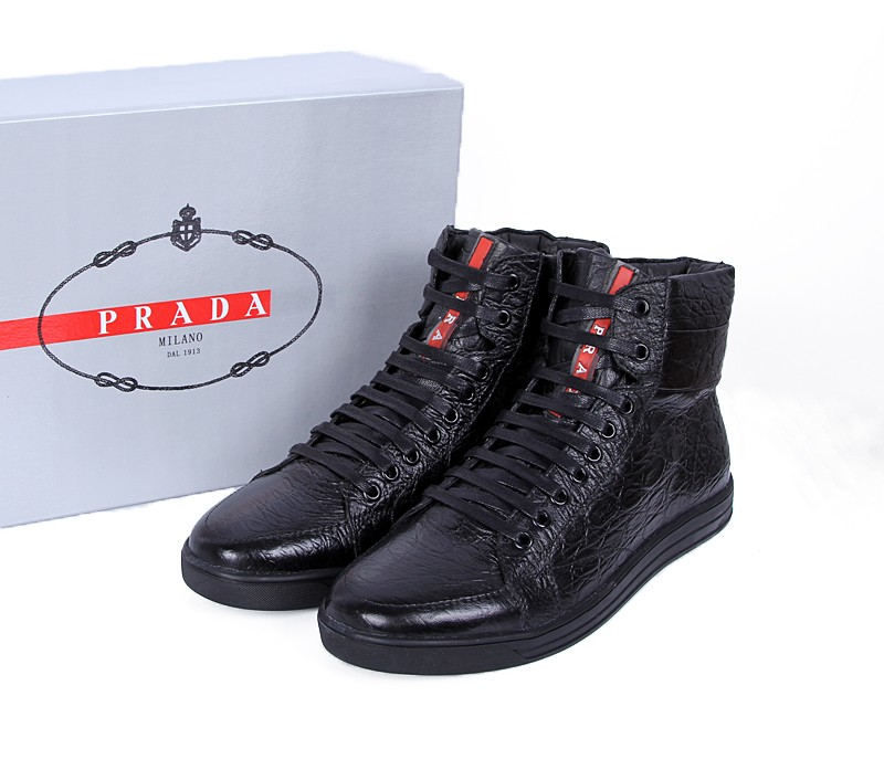 New Prada Aaa High Top Shoes For Men 4 Replica Shoes